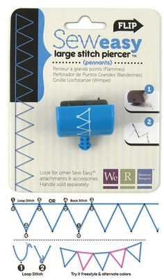 We R Memory Keepers - Sew Easy - Large Stitch Piercer Attachment Head - Pennants,