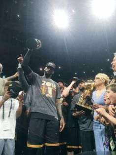 """"""" of 33 teams to EVER overcome a deficit. Fourth to win Game 7 as road warriors. King Lebron James, King James, Love And Basketball, Basketball Players, Sports Teams, Cleveland Caveliers, Cleveland House, Nba Championships, Football Conference"""