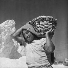 Cagliari, saline, trasporto del sale, 1956