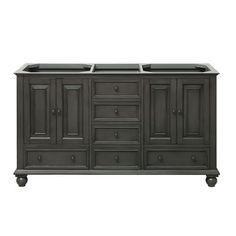 Thompson Charcoal Glaze 60 Inch Vanity Only Avanity Vanities Bathroom Vanities Bathroom Fu