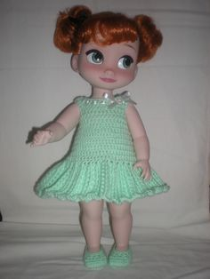 Doll Clothes / Disney Animator Doll Anna / Crochet