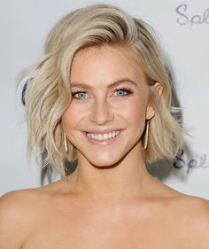 For a versatile style that you can change up with a quick flip of your part, try Julianne Hough's cute cut. - GoodHousekeeping.com