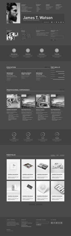 Web Resume Template Watson Cv Resume Template For Sketch Httpscrmrktwxoo0