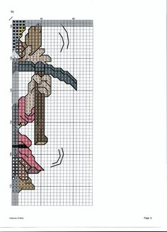 SCHEMA I SETTE NANI FOGLIO 6 Disney Cross Stitch Patterns, Cross Stitch For Kids, Counted Cross Stitch Patterns, Cross Stitch Embroidery, Needlepoint Stitches, Needlework, Stitch Cartoon, Swedish Weaving, Cross Stitch Needles