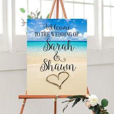 Beach Wedding Sign, Custom Quote Sign,  Beach Wedding Decor, Printable sign, Custom Wedding Sign, Wedding Printables,  digital Download,
