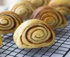 """Finnish """"cinnamon ears.""""  (I made these for a huge group brunch; the recipe is gold.)"""