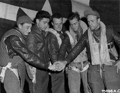 Bomber Pilot and Crew, England 1944