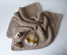 couverture bebe beige poudre 83 x 68 cm pour landau berceau ou petit lit bebe fait main