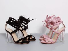 Ankle Strap Perspex High Heels Clear Crystal Concise Strappy Lace Up Pumps //Price: $44.99 & FREE Shipping //     #style