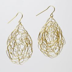 These extra large earrings are extremely light and easy to wear! See for yourself. You won't find an earring of this size that is this comfortable very easily. Beautifully woven from 14kt gold filled or sterling silver wire.