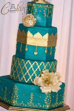 Moroccan inspired wedding cake - Cake by Pam Heun