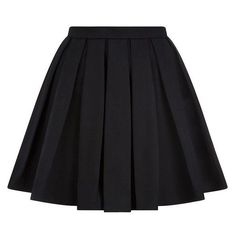 Balmain Pleated Mini Skirt via Polyvore featuring skirts, mini skirts, pleated skirt, pleated miniskirt, pleated mini skirt, short mini skirts and mini skirt