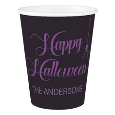 Elegant Customizable Happy Halloween Paper Cup - elegant gifts classic stylish gift idea diy style