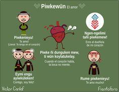 Piwkewün / El amor Educacion Intercultural, Language, Facts, Culture, Writing, Education, History, Inspiration, Happy