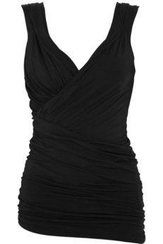 Donna Karan  Draped stretch-jersey top  £570