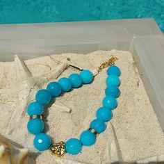Blue jade Bohemian bracelet Absolutely beautiful color. Jewelry Bracelets