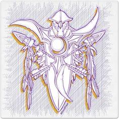 Warcraft Ballpoint Icon: Night Elf