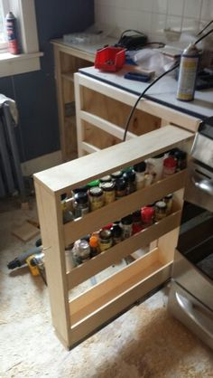 Spice cabinet without front panel