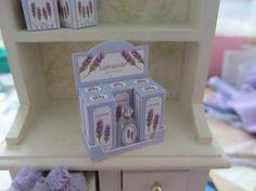 KIT Lavender Soap Shop ~ Perfume Display ~  Dollhouse Miniature 1inch Scale
