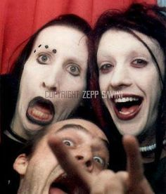 (23) marilyn manson and twiggy | Tumblr