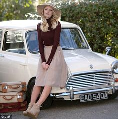 Berries and cream: It's this season's delectable colour combination Classic Mini, Classic Cars, Cream Ankle Boots, Minis, Car Hood Ornaments, Girly Car, Cream Skirt, Gerard Darel, Automobile
