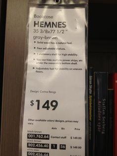 Bookcase price