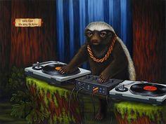 """Heavy Gretel"" Honey Badger by Isabel Samaras. Badger Images, Sylvia Ji, Harpy Eagle, Shoebill, Honey Badger, Human Soul, Samara, Snow Leopard, Great Artists"