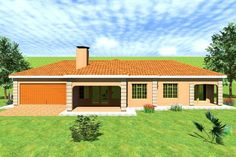 House Plan No. W0056B New House Plans, House Floor Plans, House Plans South Africa, All Design, House Design, Building Costs, Tuscan House, Site Plans, Garage Plans