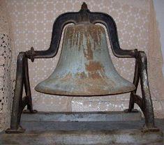 blue antique church bell.....