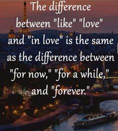 """The difference between """"Like"""", """"Love"""", and """" In-Love""""."""