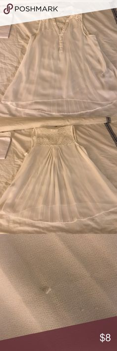 White blouse used one time great condition White lace blouse used one time great condition. Aeropostale Tops Blouses