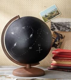 Want to flex your creative muscles? The masterminds at Jo-Ann came up with this genius idea to cover your globe in chalkboard paint, then write messages or draw pictures on the finished item. Get the tutorial at Jo-Ann.