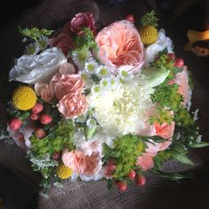 Wedding bouquet I did this week at Cedar Village Floral. Kathryn Hess Floral Designs.