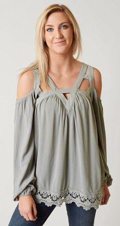 28de45d17 Coco + Jaimeson Cold Shoulder Top - Women's Shirts/Blouses in Wrought Iron  | Buckle