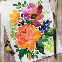 We've been having some great weather here in NTX, mid 70's and lots of beautiful sunlight. Perfect for painting florals. It amazes me how the natural light has so much influence in my color choices and type of florals. Have a great morning ya'll. . . . #watercolor #watercolorpainting #artistic #art #artwork #painting #paintingart #paintings #artcollective #art_help #artislife #art_empire #paintingoftheday #artsanity #instaart #instaartist #instacool #artstagram #artofinstagram…