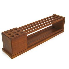 Vintage Teak Wood Desk Organizer Danish Modern by izzimodern Woodworking Bench Plans, Woodworking Projects That Sell, Woodworking Workshop, Woodworking Videos, Wooden Pen Holder, Wooden Desk Organizer, Desk Tidy, Got Wood, Wood Desk