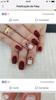 Pin by tammy brits on nails in 2019 Pretty Nail Colors, Pretty Nail Art, Fall Nail Colors, Beautiful Nail Art, Shellac Nails, Diy Nails, Acrylic Nails, Short Nails Art, Diy Nail Designs