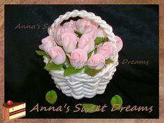 How to make roses for the rose basket cake (basket tutorial -fondant gumpaste board, cake tutorial - cake design board)