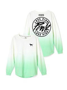 NWOT VS PINK green ombré crew These are not my pictures ! Very great condition PINK Victoria's Secret Tops Tees - Long Sleeve Victoria Secret Outfits, Victoria Secret Rosa, Victoria Secrets, Pink Outfits, Casual Outfits, Cute Outfits, Skirt Outfits, Fall Outfits, Look Casual