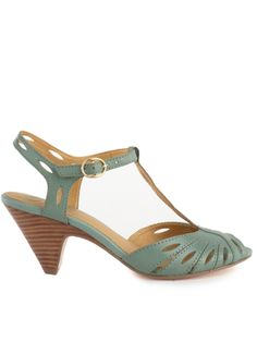 cute   I love stacked heels for suumer, and these are a great height.  Plus I love the color!  Seychelles Footwear