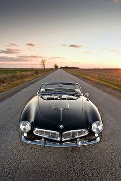 1959 BMW 507 roadster - please BMW re-produce this - oh the nose - it wouldn't be allowed, #bmwvintagecars
