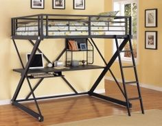 Powell Furniture Z-Bedroom Full Size Study Loft Bunk Bed, offered by Powell Furniture, browse our great selection of Bunk Beds