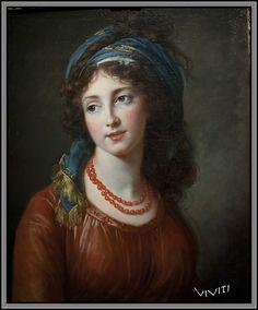 Duchesse de Guiche  née Aglaé Françoise Gabrielle de POLIGNAC par Vigée-Lebrun