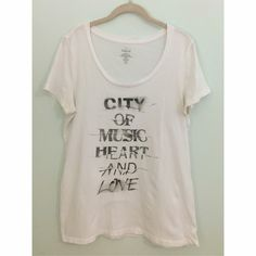 Torrid T shirt Torrid T shirt with quote. Slight stains in underarm area. torrid Tops Tees - Short Sleeve