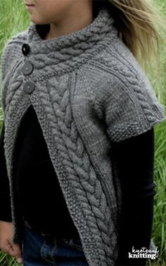 Joy Cardigan is a seamless knitting pattern for an adult cardigan. Sizes range from XS-4XL. This cardigan is a raglan sweater, knit from the top down. The collar is knit first and sweater is knit from the collar. Click through to get the pattern!