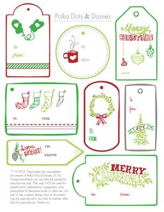 Free Christmas Tag Printables-- Design Loves Detail
