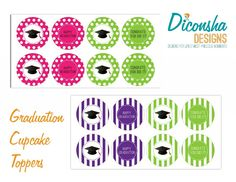 Freebie - Printable Graduation Party Cupcake Toppers