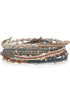 Chan Luu|14-karat rose gold-vermeil five-wrap bracelet|NET-A-PORTER.COM