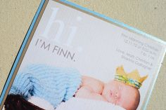 Sacramento Baby Birth Announcement Invitation // Digital File - You Download and Print!