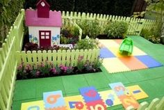 cute kids space in the yard. tiny gardens for the tiny people